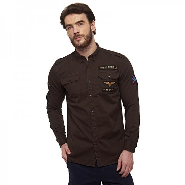 Royal Enfield Pegasus Regiment Shirt Brown