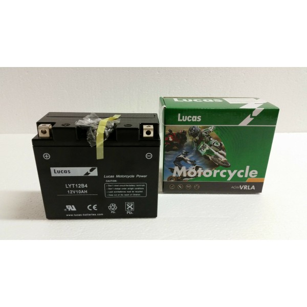 LUCAS 12V SEALED MOTORCYCLE BATTERY