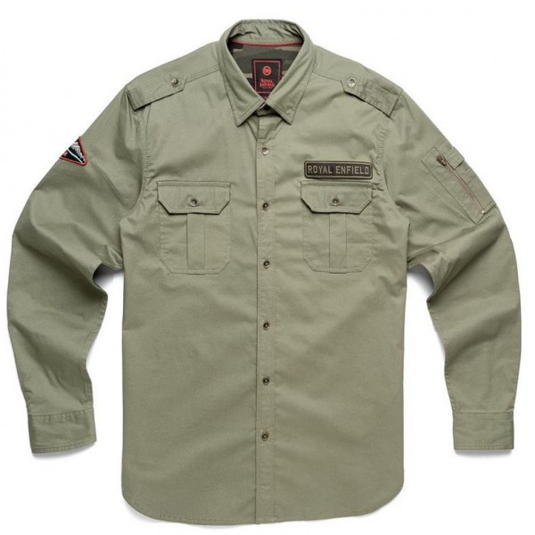 Royal Enfield Military Badge Shirt Olive (NEW)
