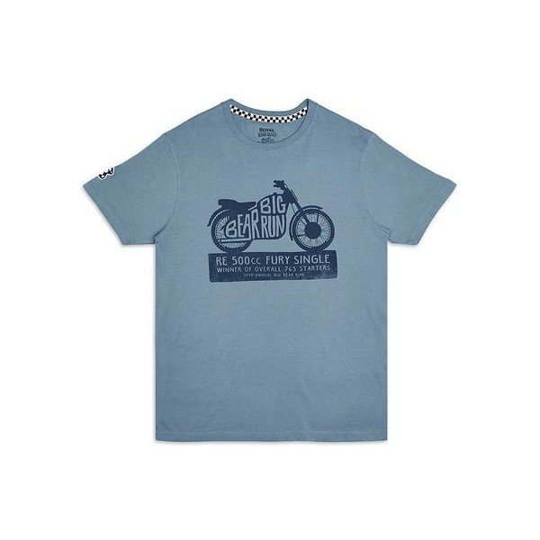 Royal Enfield 1960 Fury Single T-Shirt Blue