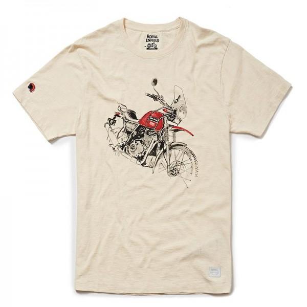 Royal Enfield Himalayan Masterpiece T-shirt Off White