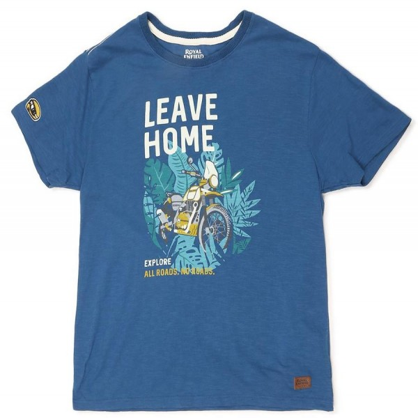 Royal Enfield Leave Home T-Shirt Teal (NEW)