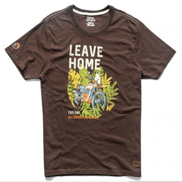 Royal Enfield Leave Home T-Shirt Brown (NEW)