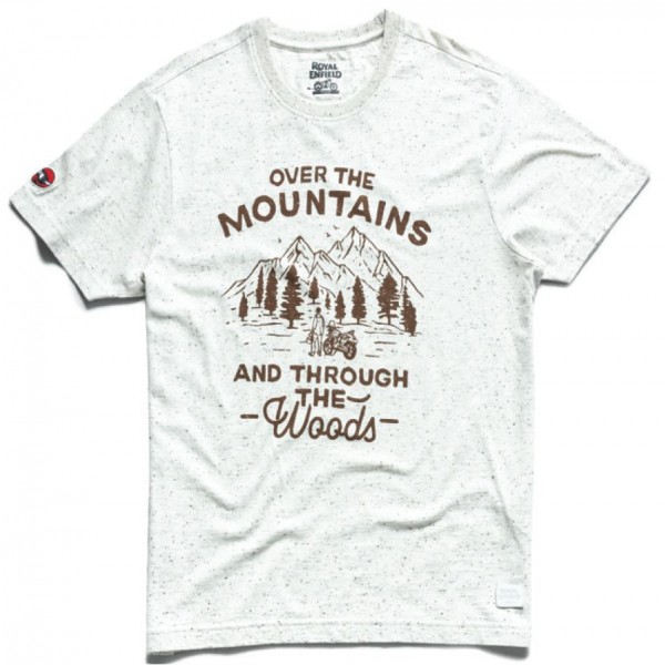 Royal Enfield Over The Mountains T-Shirt White (NEW)