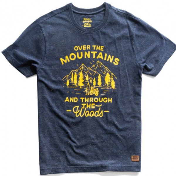 Royal Enfield Over The Mountains T-Shirt Navy (NEW)