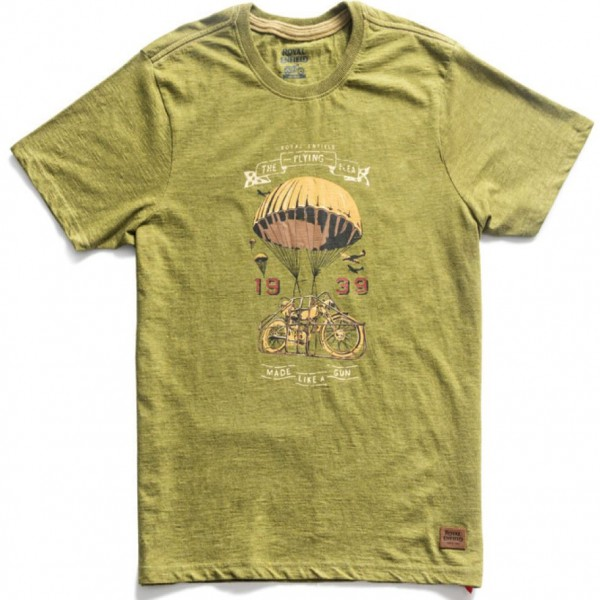 Royal Enfield Flying Flea T-Shirt Olive (NEW)