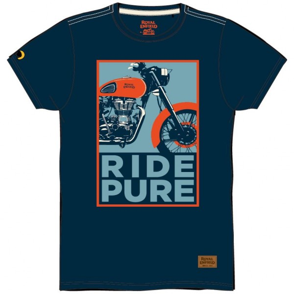 Royal Enfield Ride Pure T-Shirt Navy (NEW)
