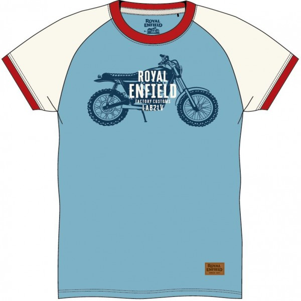 Royal Enfield Ride The Legacy T-Shirt Air Blue (NEW)