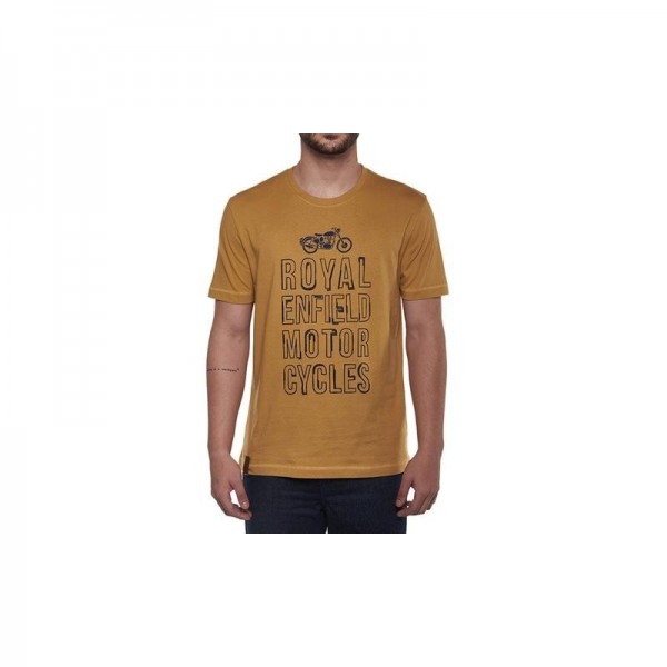 Royal Enfield Typography T Shirt Mustard