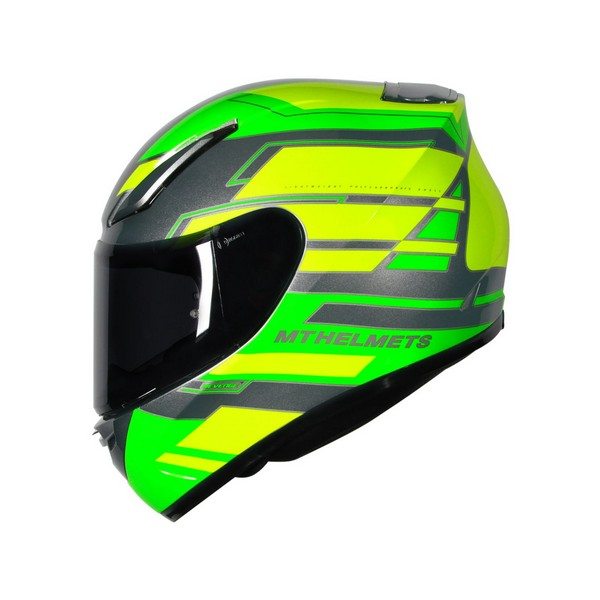 MT Revenge Zusa Flu Green/Flu Yellow Motorcycle Helmet