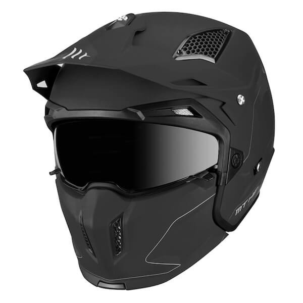 MT Streetfighter SV Solid Matt Black Motorcycle Helmet