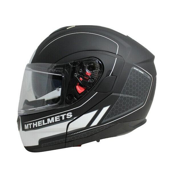 MT Atom SV Raceline Evo Black/White Motorcycle Helmet