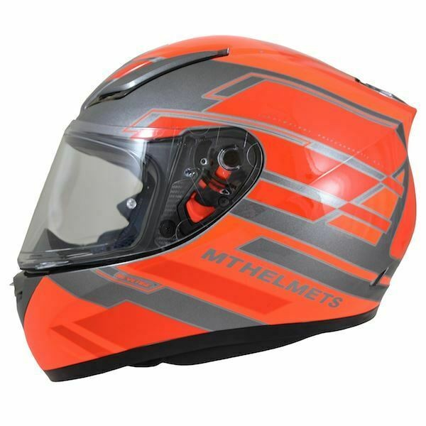 MT Revenge Zusa Flu Orange/Red Motorcycle Helmet