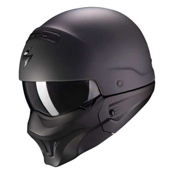 Scorpion Exo Combat Evo Matt Black Motorcycle Helmet