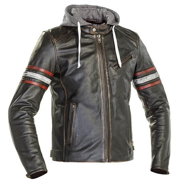 RICHA TOULON 2 LEATHER JACKET -  BLACK/RED