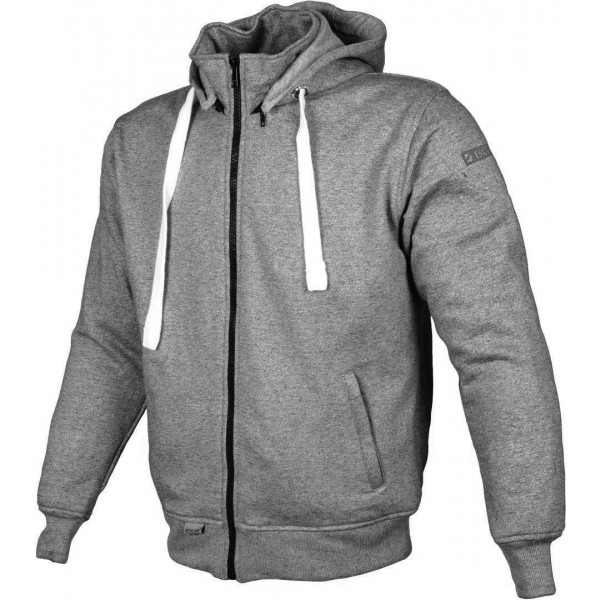 Booster Core Motorcycle Zip Hoodie Grey Anthracite