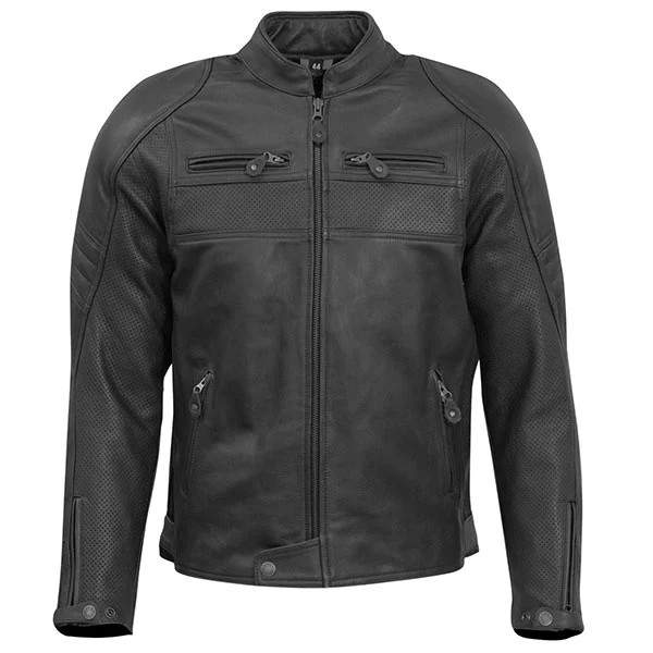 MERLIN ODELL AIR LEATHER JACKET BLACK