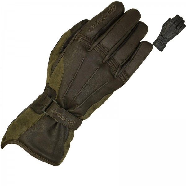 MERLIN DARWIN OUTLAST WA COTTON GLOVE-OLIVE BROWN