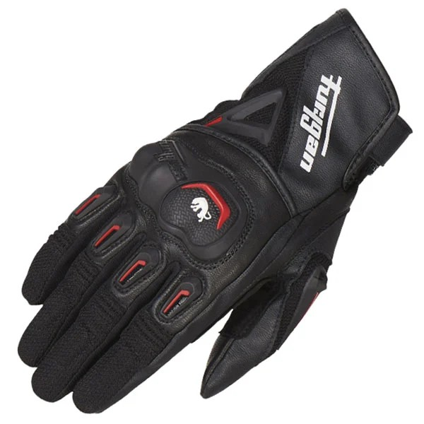 Furygan Volt Leather and Textile Glove - Black / Red