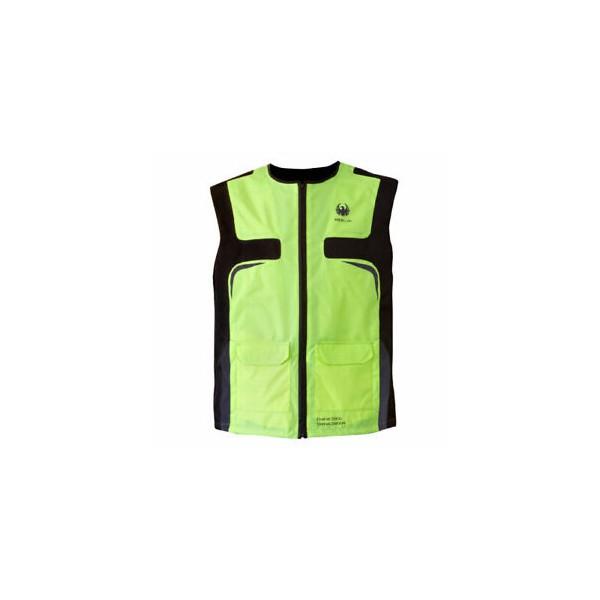 Merlin Hi-Vis Armour Plus CE Reflective Motorcycle Safety Vest - Fluo