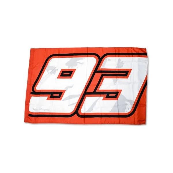VR46 MMUFG62107 Marc Marquez Number 93 Track Flag Red