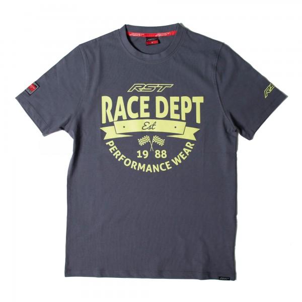 RST Vintage 88 Mens T-Shirt Grey / Flo Yellow