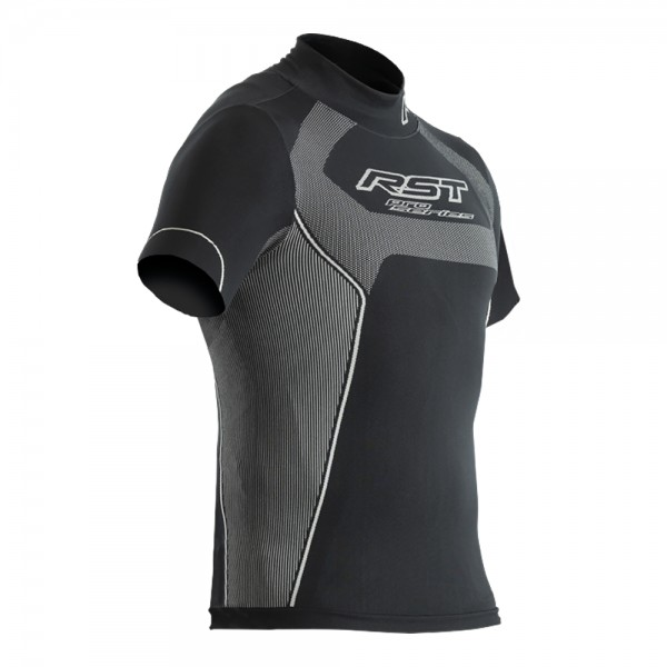 RST Tech X Coolmax Mens Short Sleeve Top Black