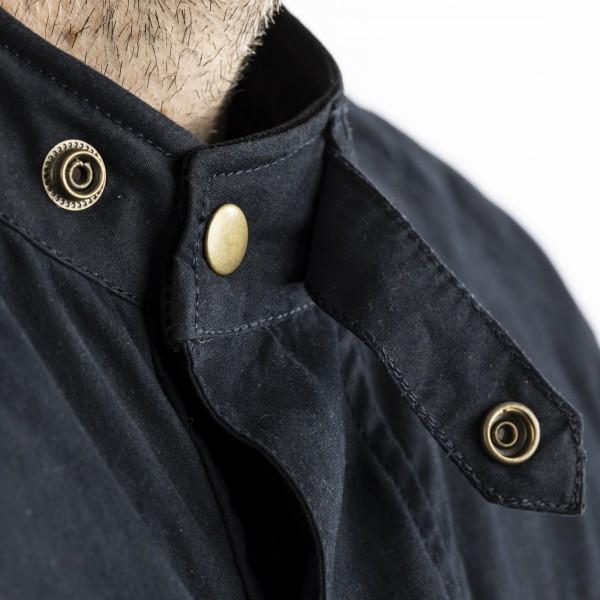 RST Classic TT Wax Short III CE Mens Textile Jacket Navy