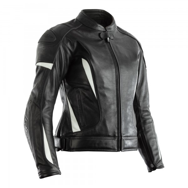 RST GT CE Ladies Leather Jacket Black / White