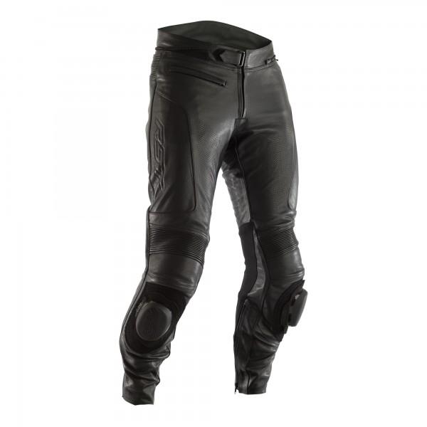 RST GT Long Leg CE Mens Leather Jean Black / Black