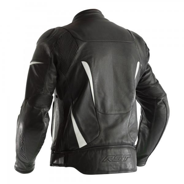 RST GT CE Mens Leather Jacket Black / White