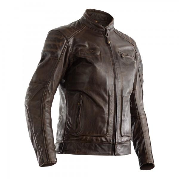 RST Roadster II CE Ladies Leather Jacket Brown