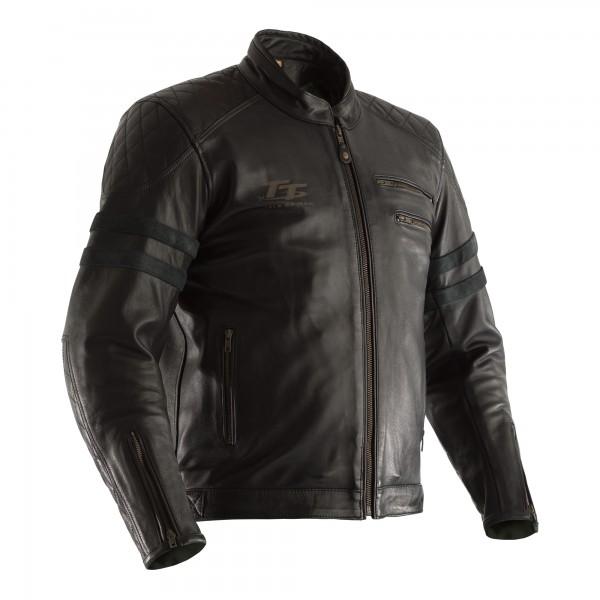 RST IOM TT Hillberry CE Mens Leather Jacket Black