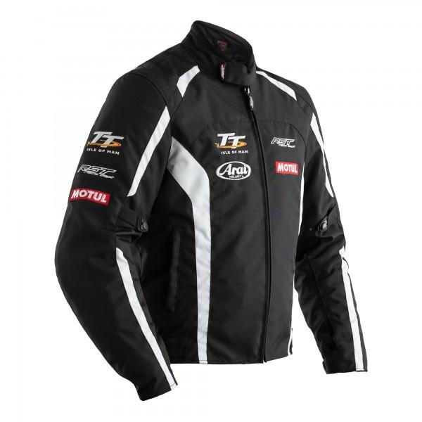 RST IOM TT Team CE Mens Textile Jacket Black / White