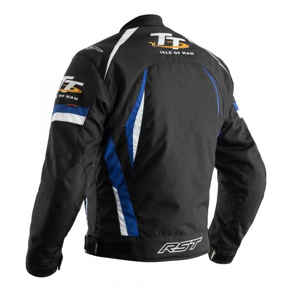 RST IOM TT Grandstand CE Mens Textile Jacket Black / Blue