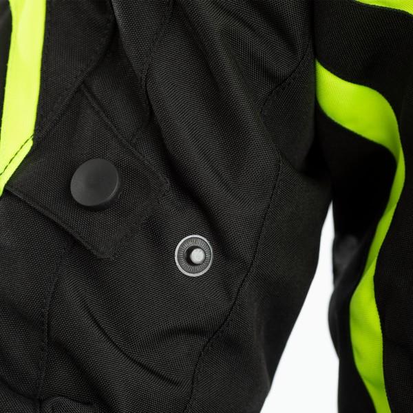 RST IOM TT Grandstand CE Mens Textile Jacket Black / Flo Yellow