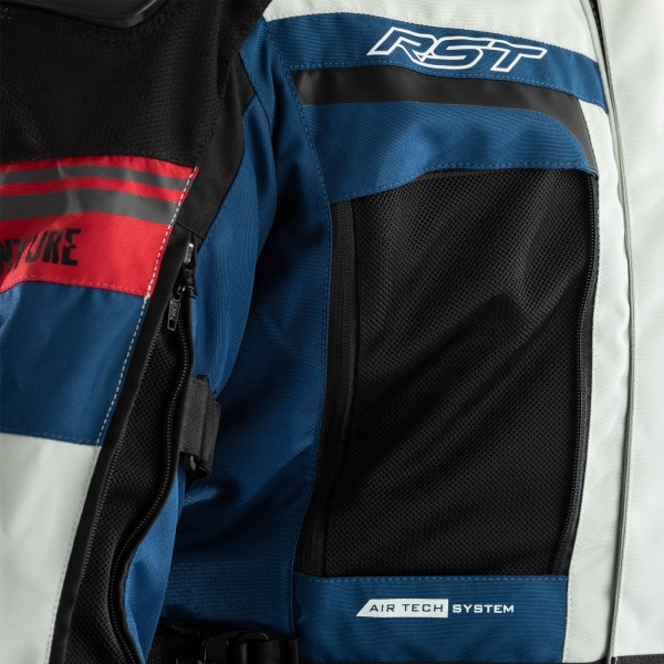 RST Pro Series Adventure CE Ladies Textile Jacket Ice / Blue / Red