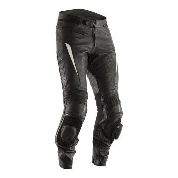 RST GT CE Mens Leather Jean Black / White