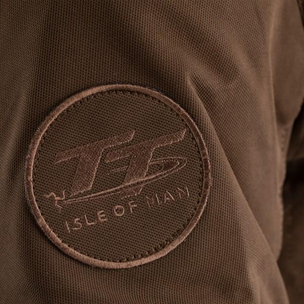 RST IOM TT Crosby CE Mens Textile Jacket Brown