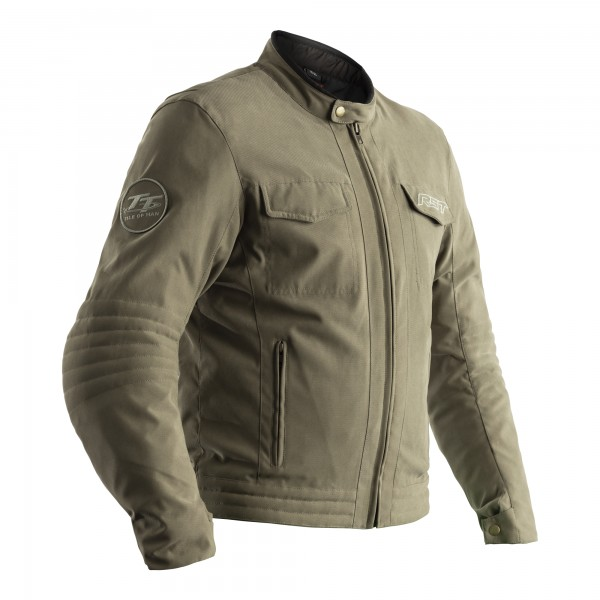 RST IOM TT Crosby CE Mens Textile Jacket Sage