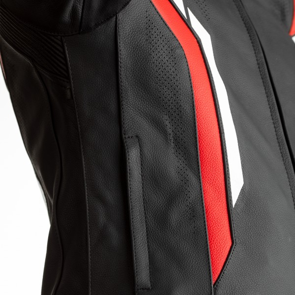 RST Axis CE Mens Leather Jacket Black / Red / White
