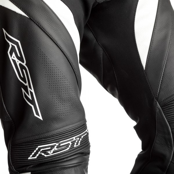 RST Kids Tractech Evo 4 CE One Piece Leather Suit Black/White