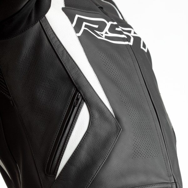 RST Tractech Evo 4 CE Mens Leather Jacket Black / White