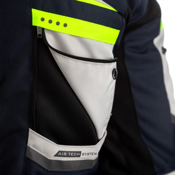 RST Maverick CE Mens Textile Jacket Blue  / Silver / Neon