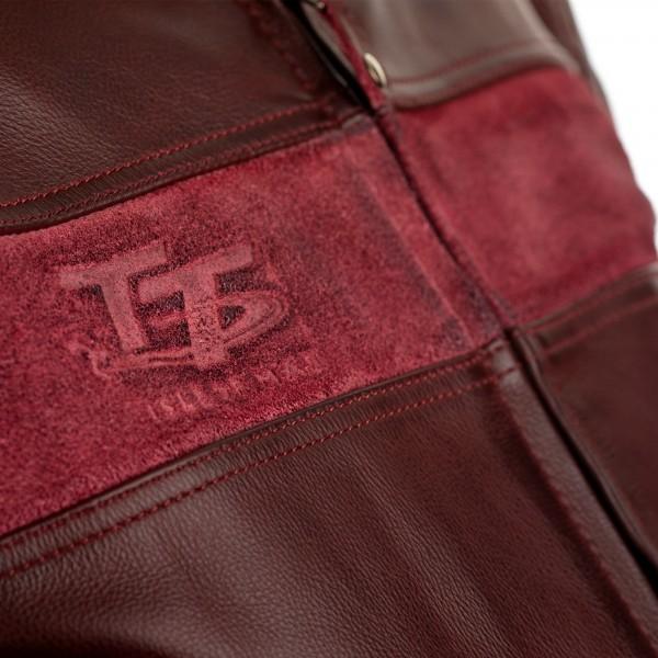 RST IOM TT Brandish CE Mens Leather Jacket Oxblood