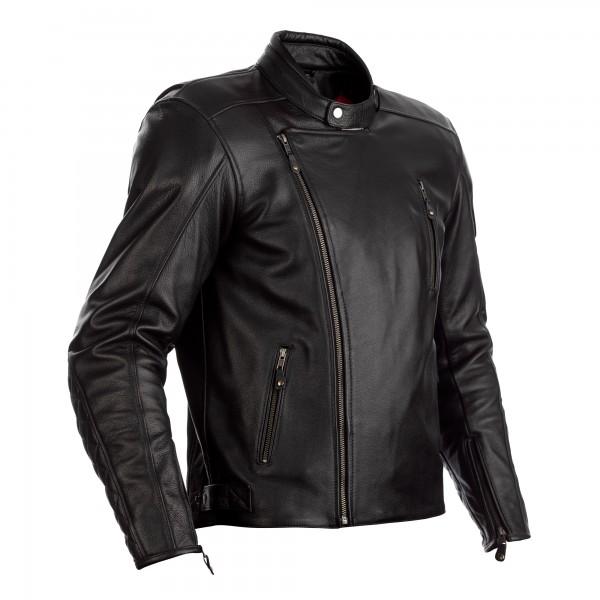 RST Matlock CE Mens Leather Jacket Black