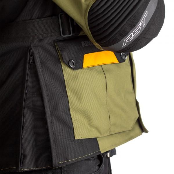 RST Pro Series Adventure-X CE Mens Textile Jacket Green/Ochre