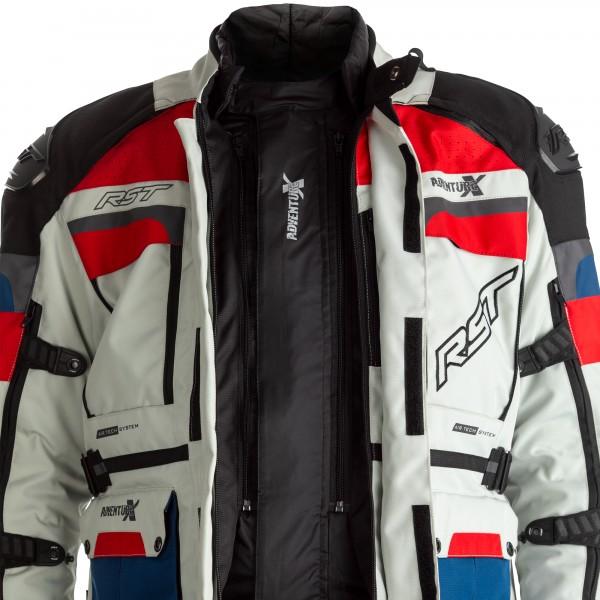 RST Pro Series Adventure-X CE Mens Textile Jacket Ice / Blue / Red / Black