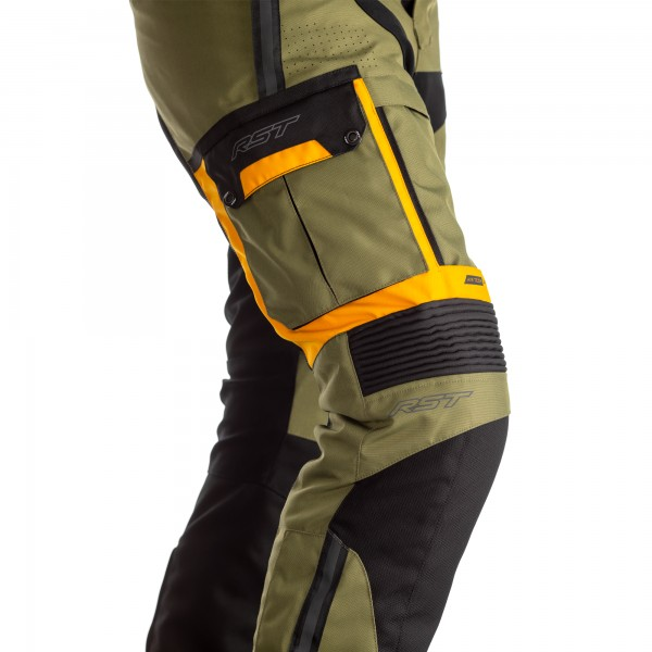 RST Pro Series Adventure-X CE Mens Textile Jean Green/Ochre