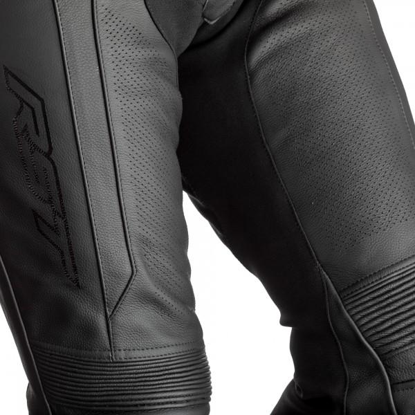 RST Axis Short Leg CE Mens Leather Jean Black / Black